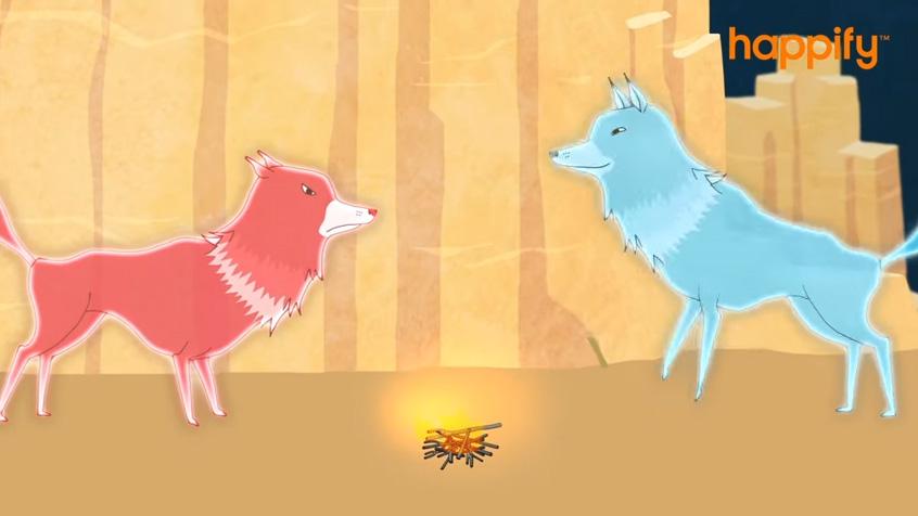 L'histoire des 2 loups